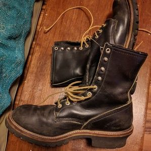 Red Wing Work Logger Motorcycle Boots 10.5 E